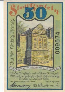 Image #2 of 50 Pfennig 1920 - Rinteln