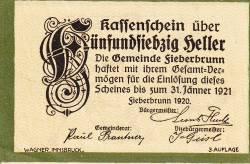 Imaginea #1 a 75 Heller 1920 - Fieberbrunn