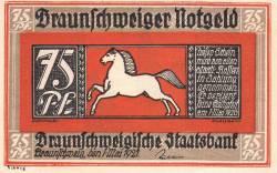 75 Pfennig 1921 - Braunschweig