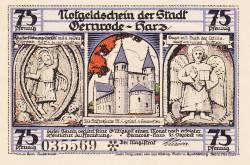 Image #1 of 75 Pfennig 1921 - Gernrode/Harz