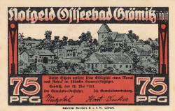 Image #2 of 75 Pfennig 1921 - Grömitz