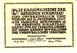 Imaginea #2 a 80 Heller 1920 - Eckartsau
