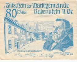 Imaginea #1 a 80 Heller 1920 - Rabenstein (A III-a emisiune - 3. Ausgabe)