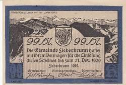 Imaginea #1 a 99 Heller 1919 - Fieberbrunn