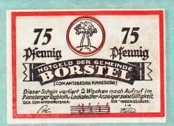 Image #1 of 75 Pfennig ND - Borstel (Pinneberg)