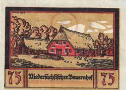Image #2 of 75 Pfennig ND - Borstel (Pinneberg)