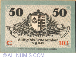 Image #2 of 50 Pfennig 1918 - Kemberg