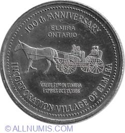 Image #2 of 1 Dollar 1986 - Elmira