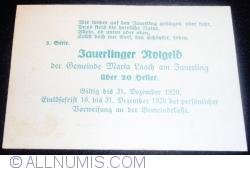 Imaginea #2 a 20 Heller ND - Maria Laach am Jauerling (3. Serie)