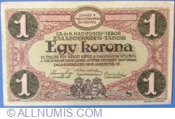 Image #2 of 1 Krone / Korona 1916 - Zalaegerszeg