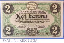 Image #2 of 2 Kronen / Korona 1916 - Zalaegerszeg