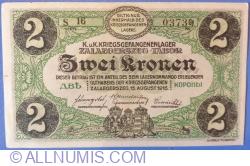 Image #1 of 2 Kronen / Korona 1916 - Zalaegerszeg