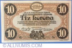 Image #2 of 10 Kronen / Korona 1916 - Zalaegerszeg