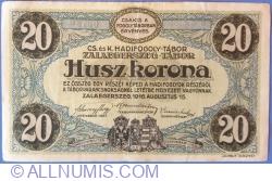 Image #2 of 20 Kronen / Korona 1916 - Zalaegerszeg