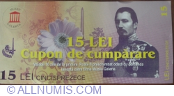 15 Lei - Coupon for purchase
