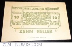 Imaginea #2 a 10 Heller 1920 - Ferschnitz