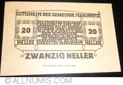 Imaginea #2 a 20 Heller 1920 - Ferschnitz
