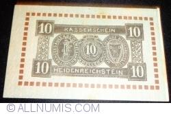 Imaginea #1 a 10 Heller 1920 - Heidenreichstein (A II-a emisiune - 2. Auflage)