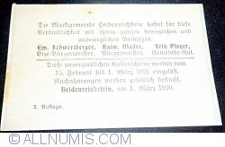 Imaginea #2 a 10 Heller 1920 - Heidenreichstein (A II-a emisiune - 2. Auflage)