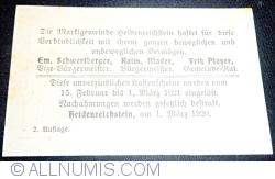 Imaginea #2 a 50 Heller 1920 - Heidenreichstein (A II-a emisiune - 2. Auflage)