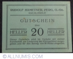 Imaginea #1 a 20 Heller ND -.Rudolf Hametner
