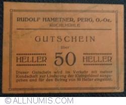 Imaginea #1 a 50 Heller ND -.Rudolf Hametner