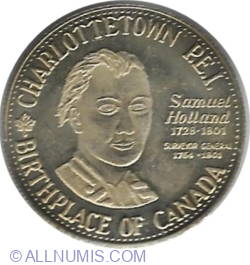 Image #2 of Charlottetown (Prince Edward Island) - 1 Dollar 1980 - 125th Anniversary of the City of Charlottetown.