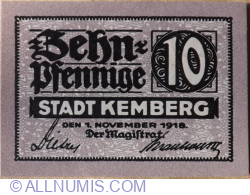 Image #1 of 10 Pfennig 1918 - Kemberg