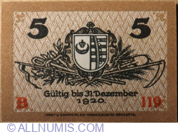 Image #2 of 5 Pfennig 1918 - Kemberg