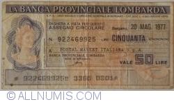 Image #1 of 50 Lire 1977 (20. V.) - Bergamo (POSTAL MARKET ITALIANA S. p. A.)