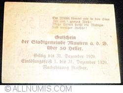 Image #2 of 50 Heller 1920 - Mautern an der Donau