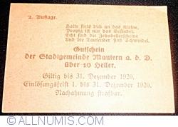 Image #2 of 10 Heller 1920 - Mautern an der Donau (2. Auflage)