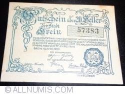 Imaginea #2 a 20 Heller 1920 - Grein