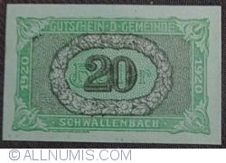 Image #1 of 20 Heller 1920 - Schwallenbach