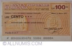 Image #1 of 100 Lire 1977 (21. III.) - Milano