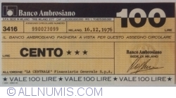 Image #1 of 100 Lire 1976 (16. XII.) - Milano