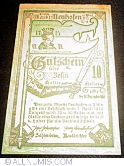 Imaginea #1 a 10 Heller 1920 - Neuhofen an der Ybbs