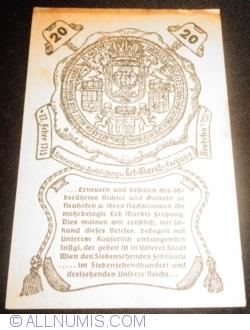 Imaginea #2 a 20 Heller 1920 - Neuhofen an der Ybbs
