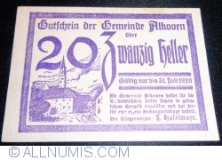 Imaginea #1 a 20 Heller 1920 - Alkoven