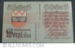 Imaginea #2 a 5 Heller ND - Wörgl