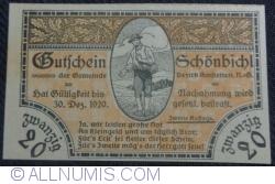 Imaginea #1 a 20 Heller 1920 - Schönbichl