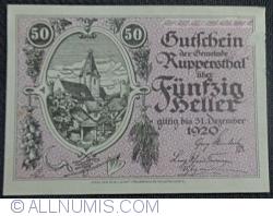 Imaginea #1 a 50 Heller ND - Ruppersthal