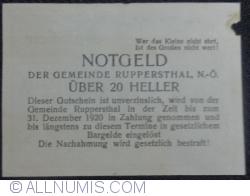 Imaginea #2 a 20 Heller ND - Ruppersthal