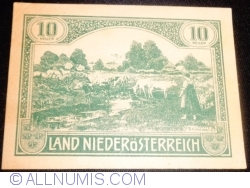 10 Heller 1920 - Lower Austria - Niederösterreich (Second Issue - II. Auflage)