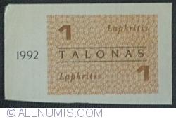 Imaginea #1 a 1 Talonas 1992 (noiembrie - lapkritis)