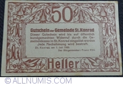 Image #2 of 50 Heller 1920 - Sankt Konrad