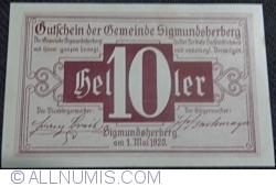 Imaginea #1 a 10 Heller 1920 - Sigmundsherberg