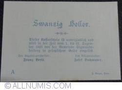 Imaginea #2 a 20 Heller 1920 - Sigmundsherberg