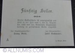 Imaginea #2 a 50 Heller 1920 - Sigmundsherberg