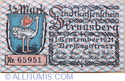 1/2 Mark 1921 - Strausberg
